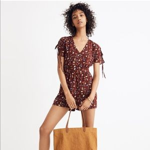 NWOT Madewell button-front romper